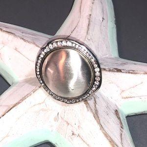 Brighton Silvertone Ring ~ Size 8